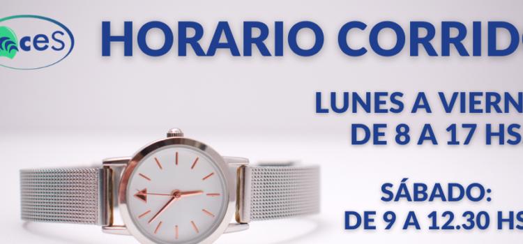 HORARIO CORRIDO